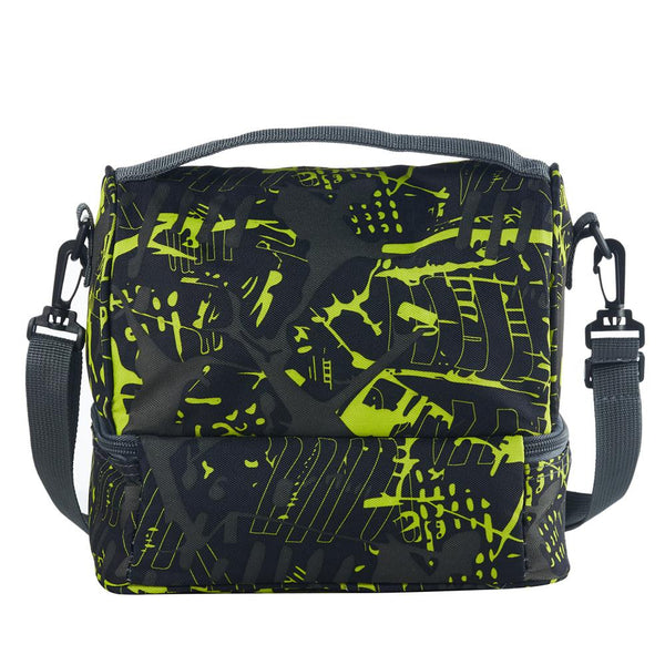 2019 New Venturion And Ventura Fortnite Girls Boys Two Compartment Green Graffiti Lunch Bag