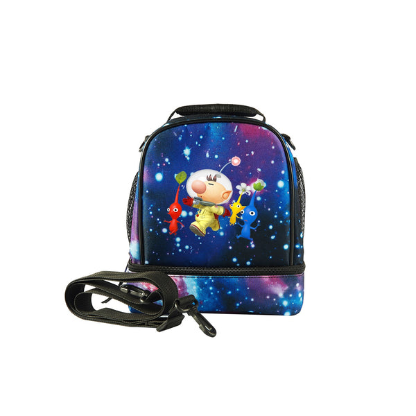 2019 Pikmin Logo Kids Fashion Two Compartment Lunch Bag