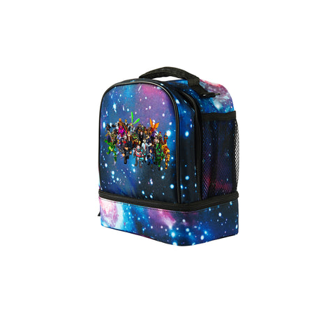 2019 Roblox All Characters Logo Boys Two Compartment Galaxy Lunch Bag