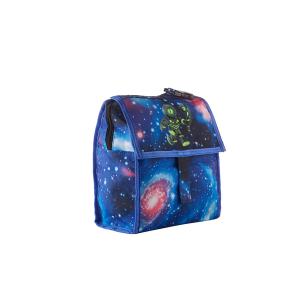 2019 Roblox The Overseer Logo Galaxy Freezable Lunch Bag with Zip Closure