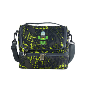 2019 Roblox New Atomic Waste Two Compartment Green Graffiti Lunch Bag