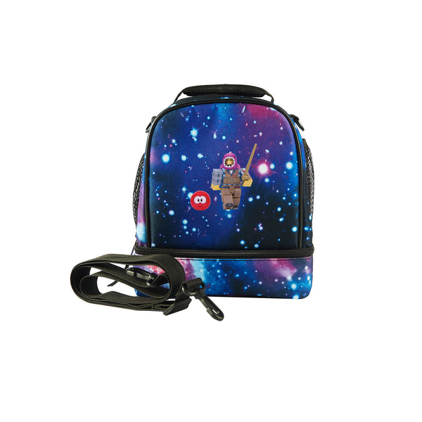 2019 Roblox Meepcity Fisherman Logo Boys Two Compartment Galaxy Lunch Bag
