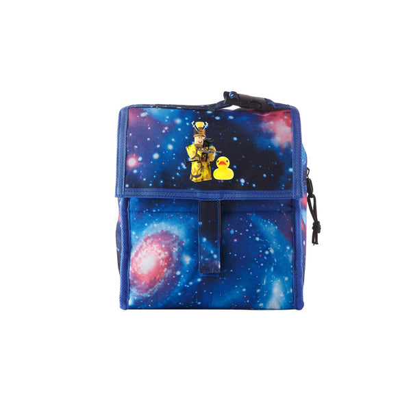 2019 Roblox Miked Logo Kids Galaxy Freezable Lunch Bag with Zip Closure