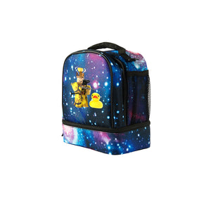 2019 Roblox Miked Logo Kids Two Compartment Galaxy Lunch Bag