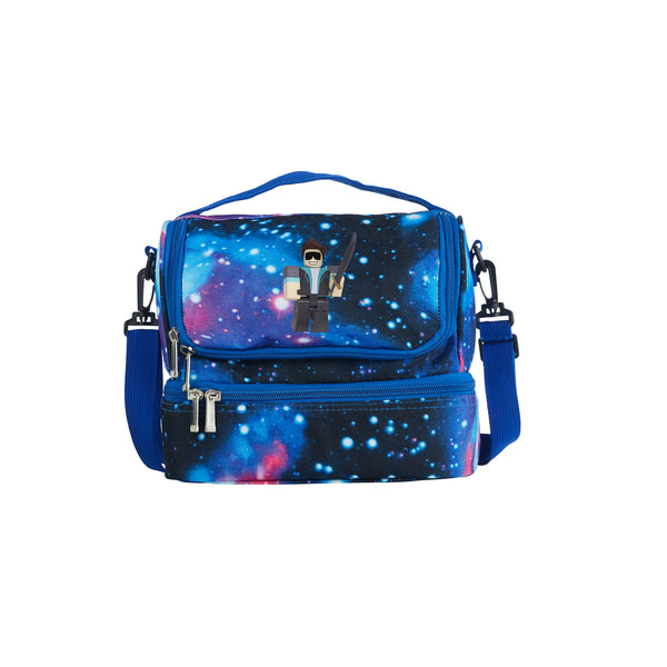 2019 Roblox Series Loleris Logo Boys Two Compartment Galaxy Lunch Bag