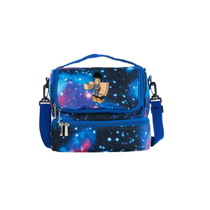 2019 Roblox Simbuilde Series Two Compartment Galaxy Lunch Bag
