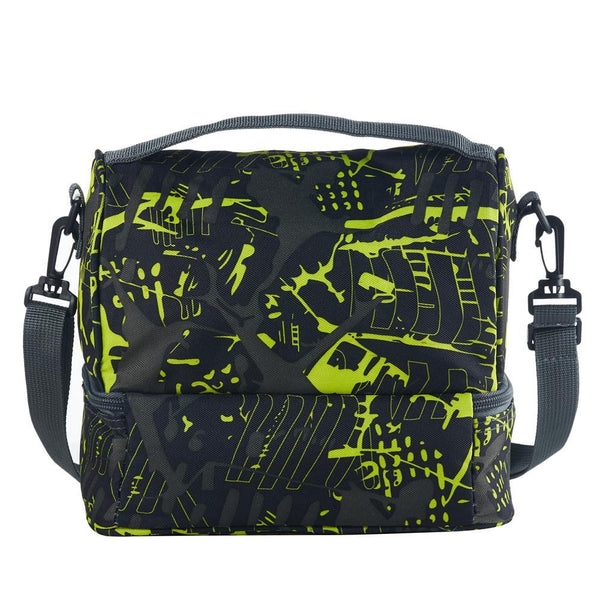 Bleeding Edge Two Compartment Two Colors Graffiti Lunch Bag For School