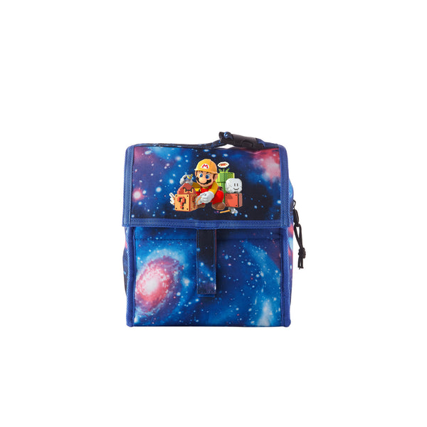 2019 Super Mario Maker 2 Boys Girls Galaxy Freezable Lunch Bag with Zip Closure For School