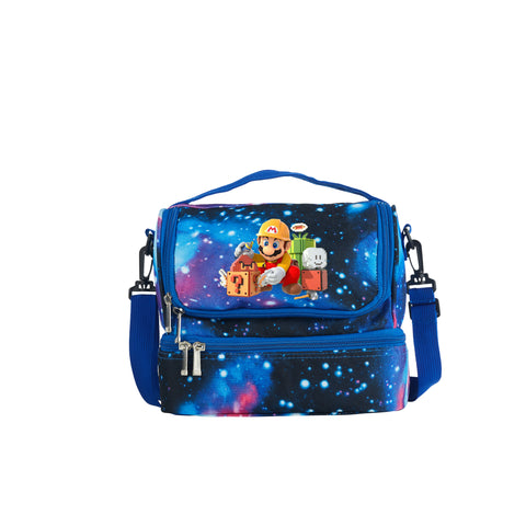Super Mario Maker 2019 Series Two Compartment Galaxy Lunch Bag