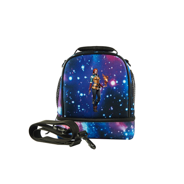 2019 The Witcher 3 Wild Hunt Logo Kids Two Compartment Galaxy Lunch Bag