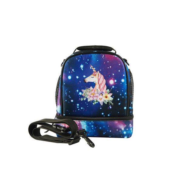 2019 Unicorn Logo Kids Two Compartment Foldable Lunch Bag For School