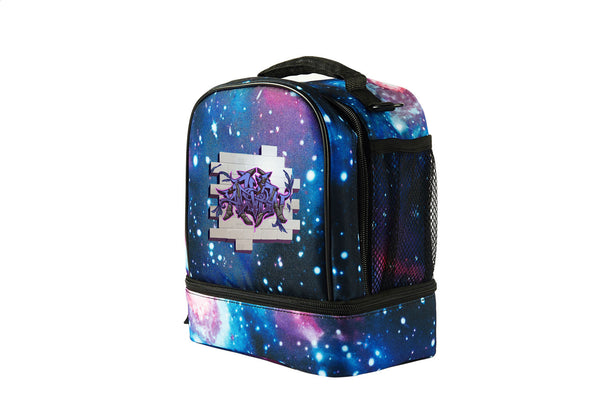 Battle Royale Sprays Raven Starry Sky Two Compartment Lunch Bag