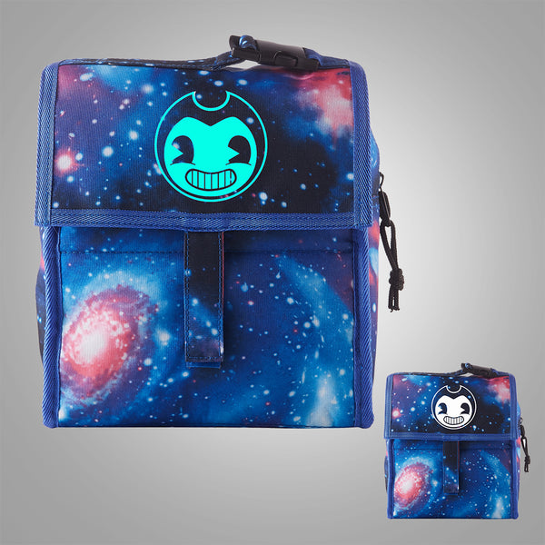 Bendy And The Ink Machine Starry Sky Freezable Lunch Bag with Zip Closure Glow In Dark