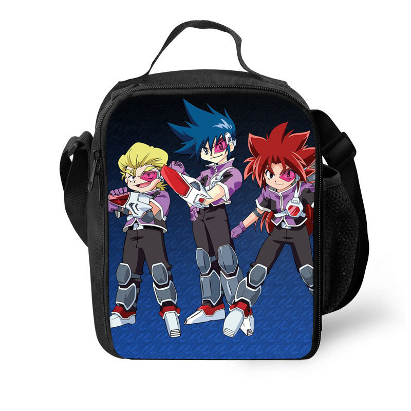 Beyblade Game 3D Pattern Large Capacity Lunch Bag