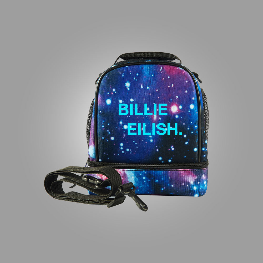 Billie Eilish Starry Sky Two Compartment Lunch Bag Glow in Dark