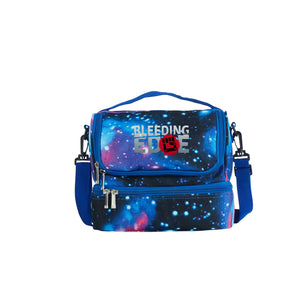 2019 Bleeding Edge Boys Girls Two Compartment Blue Galaxy Lunch Bag
