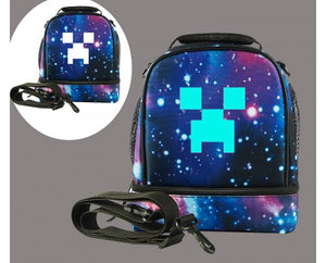 Creeper Two Compartment Lunch Bag Glow In The Dark