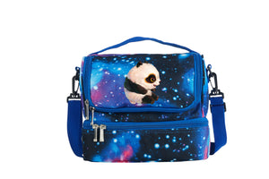 Cuddly Panda Two Compartment Galaxy Lunch Bag