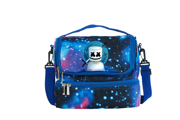 DJ Marshmello 2019 New Boys Girls Two Compartment Galaxy Lunch Bag