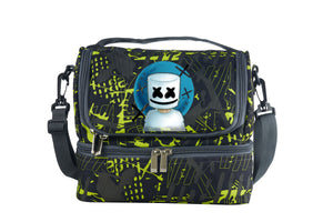 DJ Marshmello 2019 New Two Compartment Green Graffiti Lunch Bag