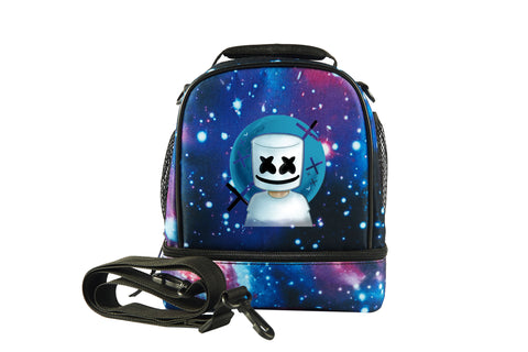 DJ Marshmello Fortnite 2019 New Boys Girls Two Compartment Lunch Bag
