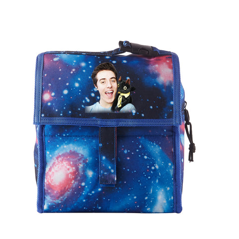 DenisDaily Starry Sky Freezable Lunch Bag with Zip Closure
