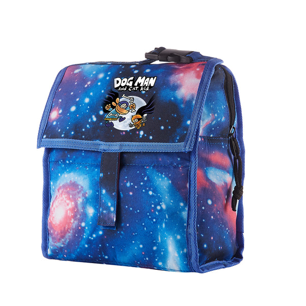 Dog Man and Cat Kid Starry Sky Freezable Lunch Bag with Zip Closure