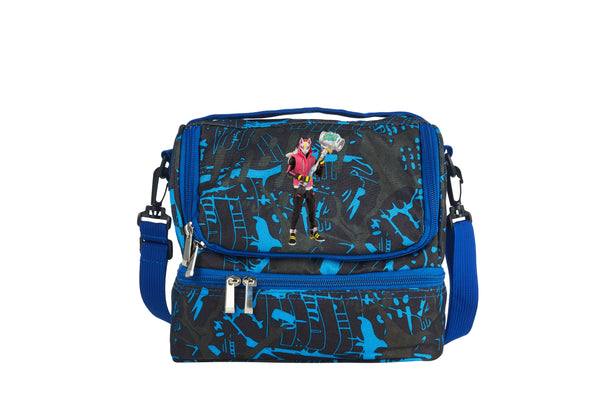 Drift Fortnite Battle Royale 2019 Two Compartment Blue Graffiti Lunch Bag