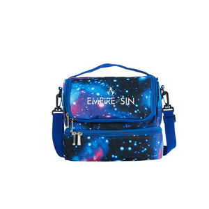 2019 Empire Of Sin Boys Girls Two Compartment Blue Galaxy Lunch Bag