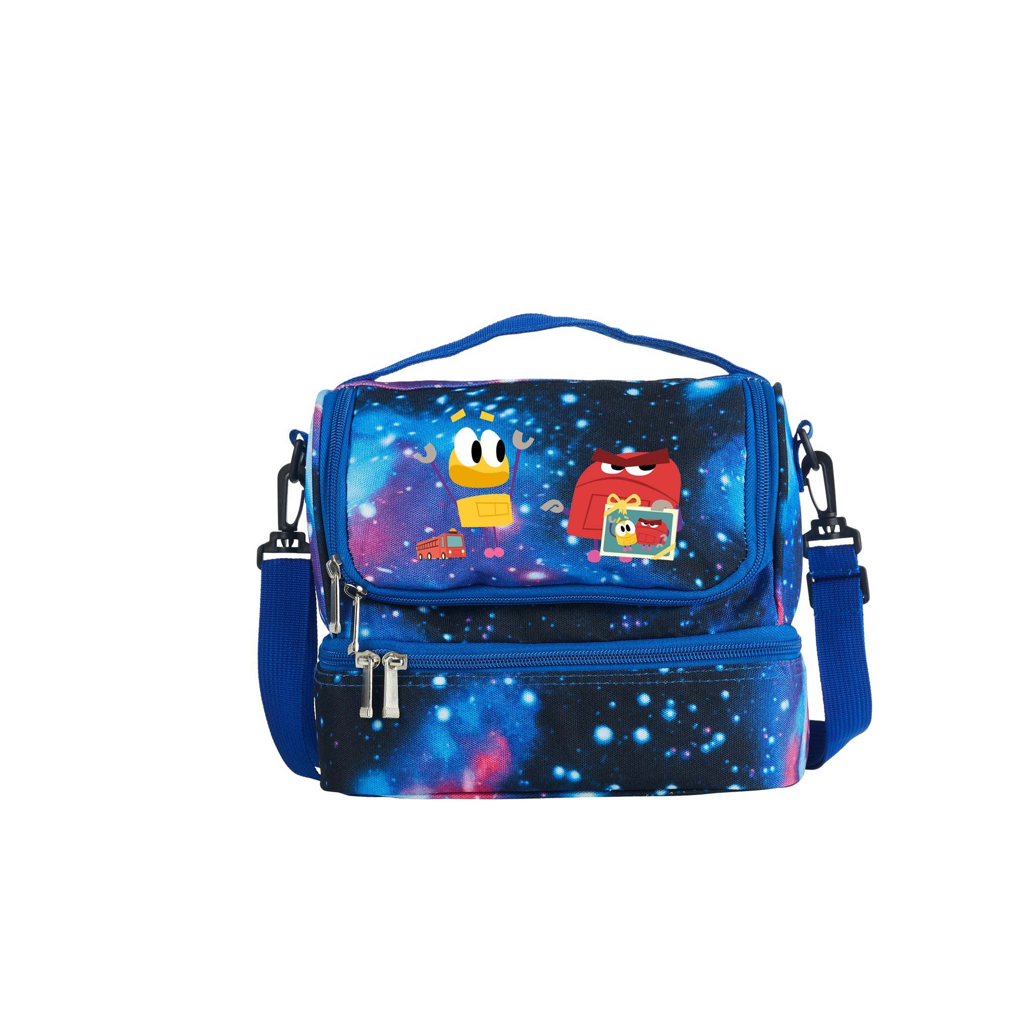 Evan And Gregg Spiridellis 2019 StoryBots Series Two Compartment Galaxy Lunch Bag