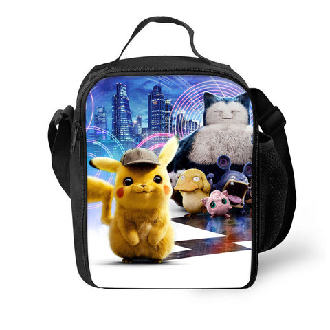 2019 Pokémon Detective Pikachu 3D Pattern Large Capacity Lunch Bag