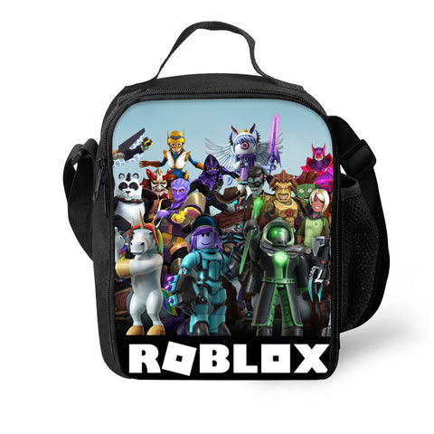 2019 Roblox  3D Pattern Kids Large Capacity Lunch Bag For School