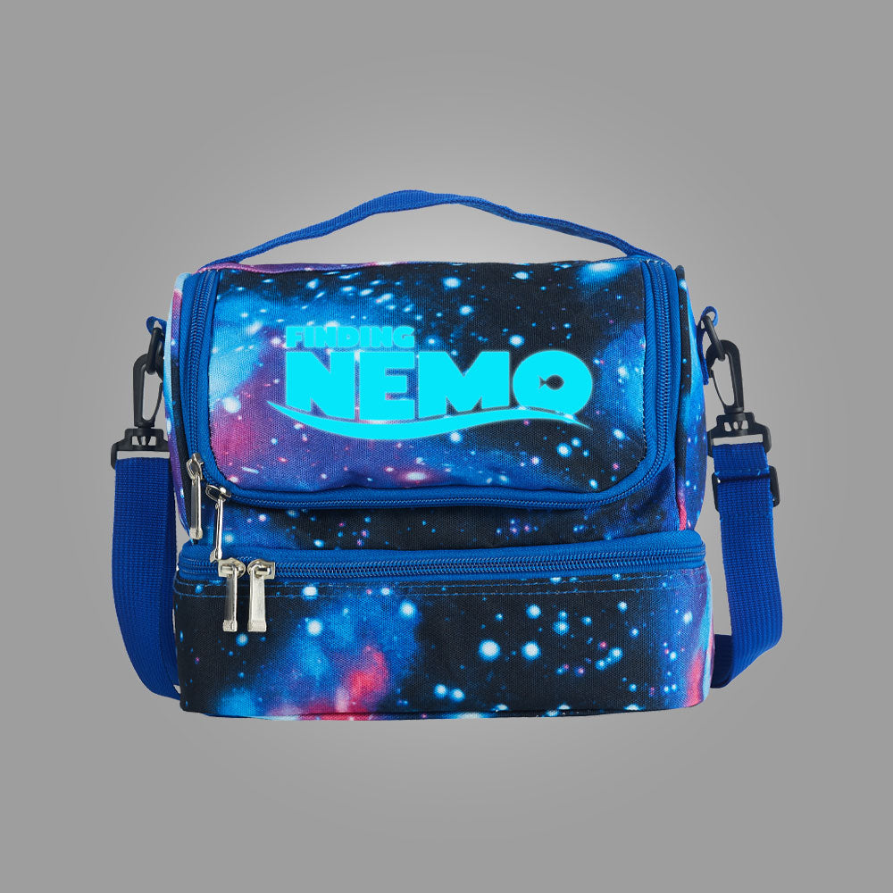 Finding Nemo Turtle Logo Two Compartment Galaxy Lunch Bag Glow In Dark