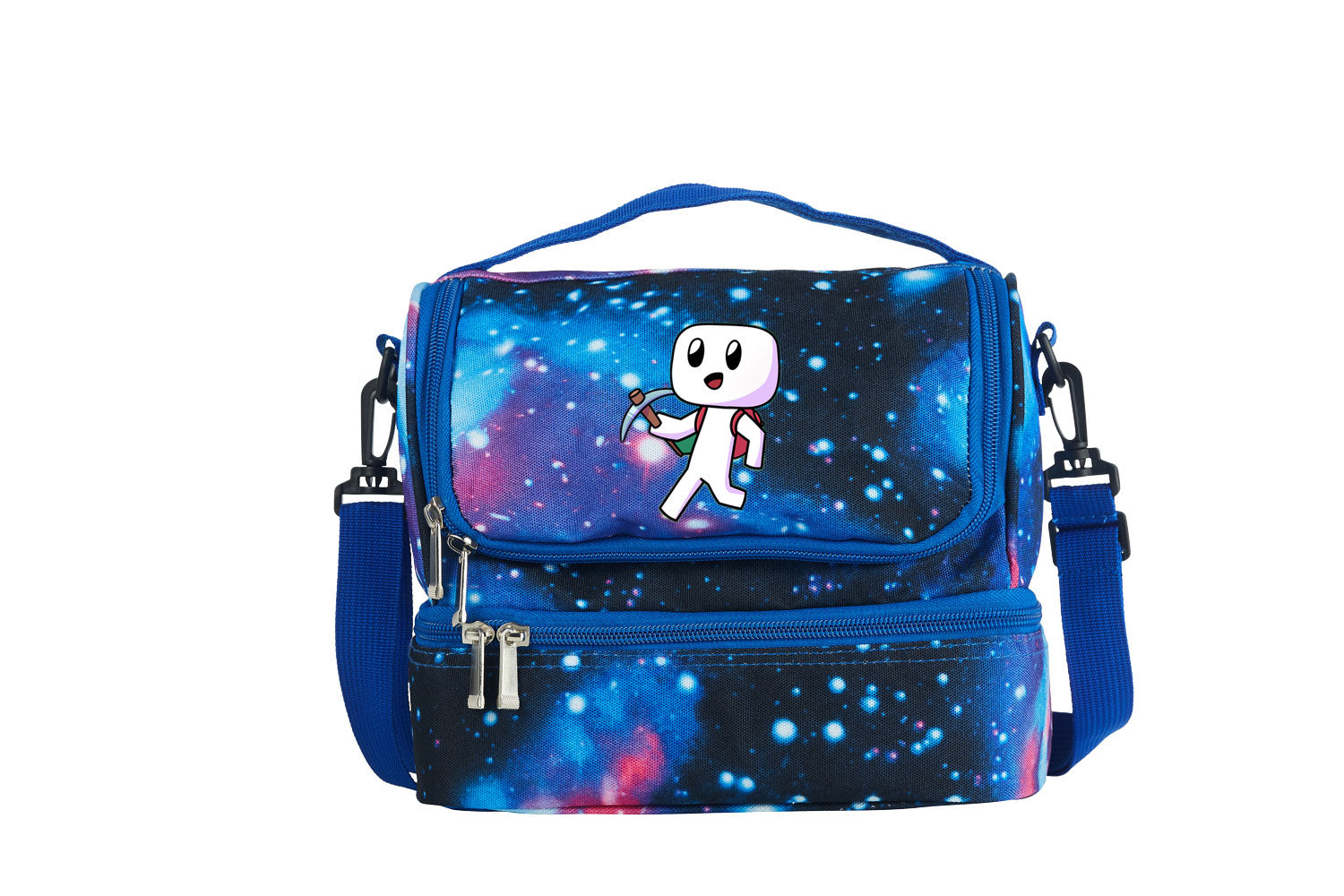 Forager Logo Starry Sky Two Compartment Lunch Bag