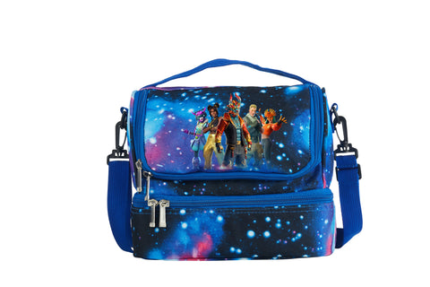 Fortnite Battle Royale Skins 2019 Kids Two Compartment Galaxy Lunch Bag