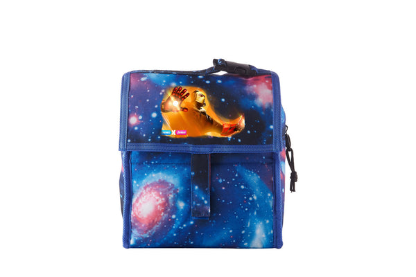 Fortnite Themed End Game Iron Man Starry Sky Freezable Lunch Bag with Zip Closure