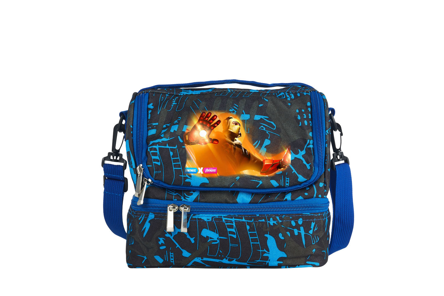 Fortnite Themed End Game Iron Man Two Compartment Graffiti Lunch Bag