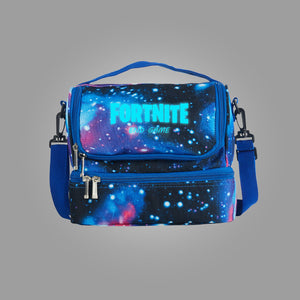 Fortnite Themed End Game Logo Two Compartment Galaxy Lunch Bag Glow In Dark
