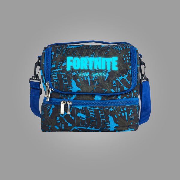 Fortnite Themed End Game Logo Two Compartment Graffiti Lunch Bag Glow In Dark