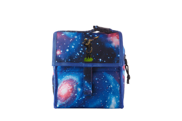 Fortnite Themed End Game Thanos Starry Sky Freezable Lunch Bag with Zip Closure