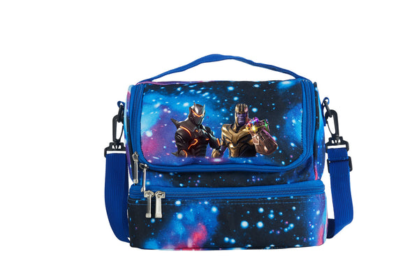 Fortnite Themed End Game Thanos Two Compartment Galaxy Lunch Bag
