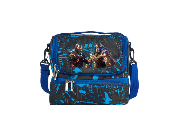 Fortnite Themed End Game Thanos Two Compartment Graffiti Lunch Bag