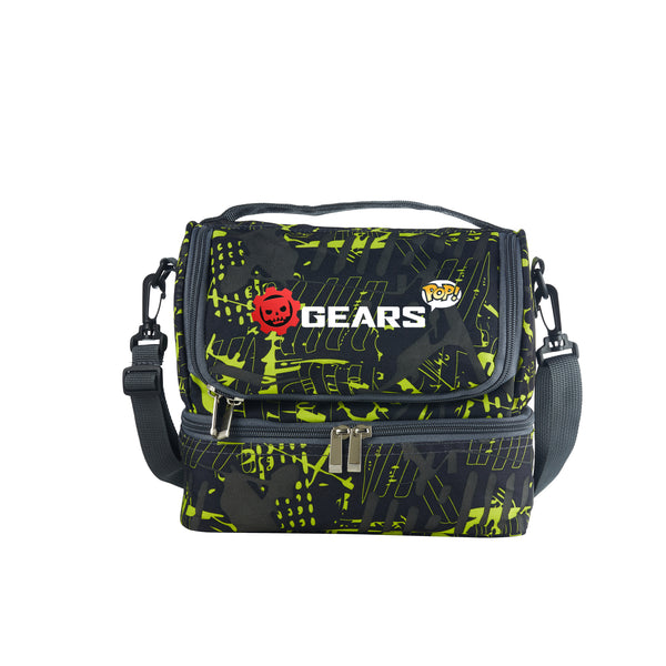 Gears POP Durable Two Compartment Two Colors Graffiti Lunch Bag For School