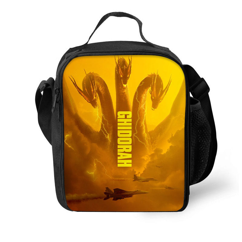 Godzilla King Of The Monsters 3D Pattern Large Capacity Lunch Bag