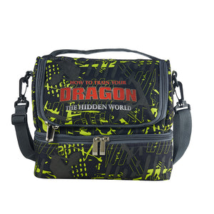 How to Train Your Dragon: The Hidden World Logo Two Compartment Green Graffiti Lunch Bag