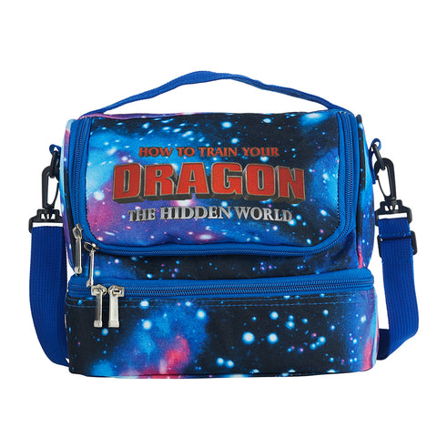 How to Train Your Dragon The Hidden World Logo Two Compartment Galaxy Lunch Bag