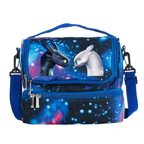 How to Train Your Dragon: The Hidden World 2019 Two Compartment Galaxy Lunch Bag