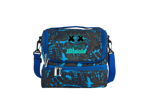 Illinois Marshmello Two Compartment Lunch Bag