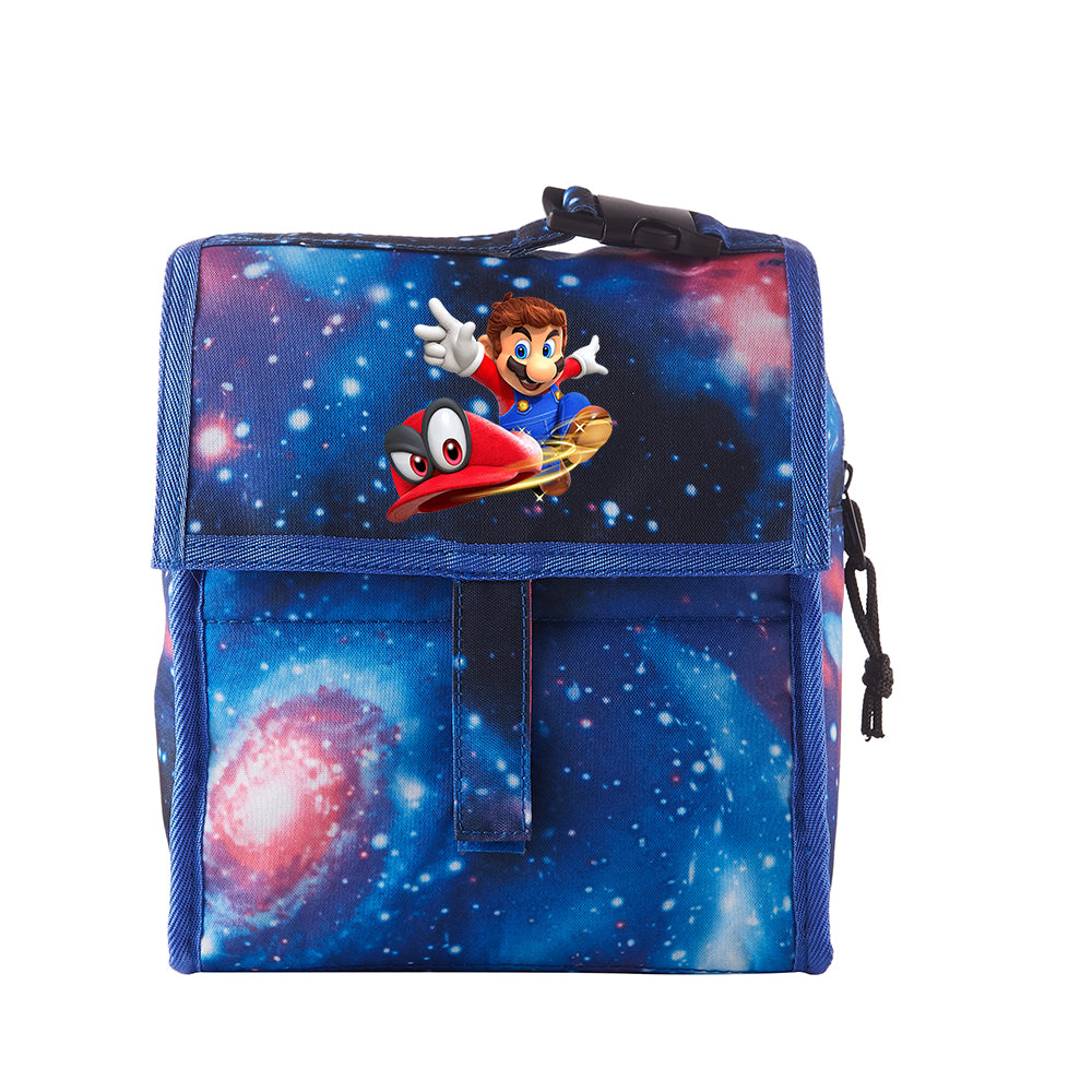 Mario Odyssey Starry Sky Freezable Lunch Bag with Zip Closure