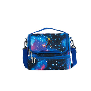 2019 Kids Marvel Ultimate Alliance 3 The Black Order Durable Two Compartment Blue Galaxy Lunch Bag